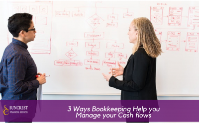 3 Ways bookkeeping help you manage your Cash flows